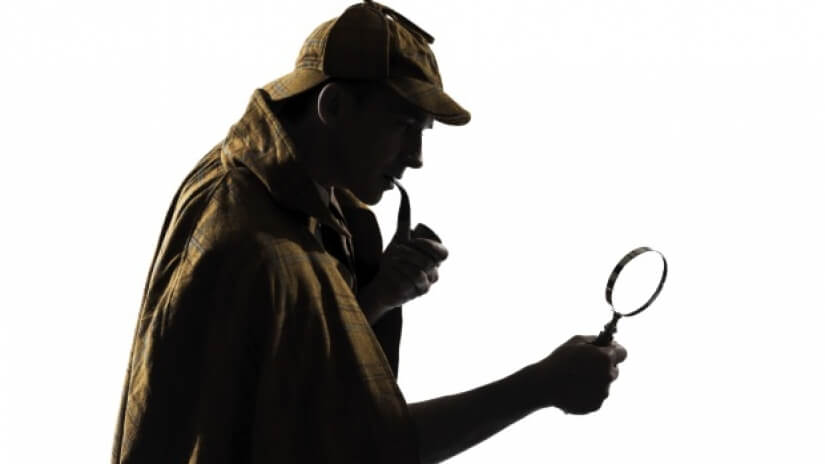 Sherlock Holmes with a Magnifying Glass